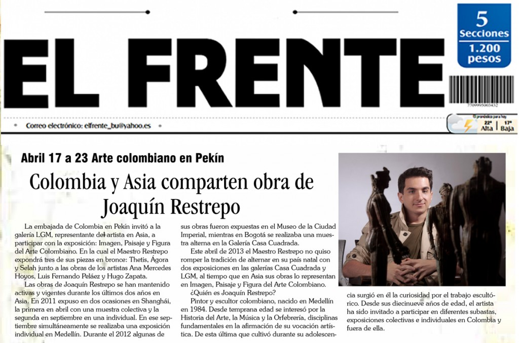 Periodico-El-Frente-Joaquin-Restrepo-Bucaramanga